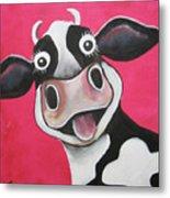 Mrs Cow Metal Print