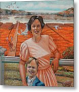 Mrs. Curry And Son Metal Print