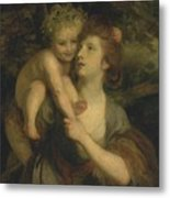 Mrs Hartley As A Nymph With A Young Bacchus Metal Print