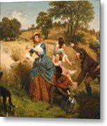 Mrs Schuyler Burning Her Wheat Fields Metal Print