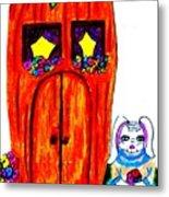 Ms. Bunny's Carrot House Metal Print