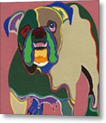 Ms Diva The English Bulldog Metal Print