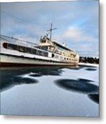 Ms Mount Washington At Winter Dock Metal Print