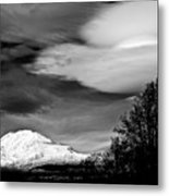 Mt Adams With Lenticular Cloud Metal Print