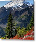 Mt. Baker Autumn Metal Print