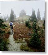 Mt Brown Lookout - Glacier National Park Metal Print
