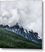 Mt Chephern Engulfed In Clouds Metal Print by Adnan Bhatti