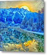 Mt Currie Fantasy Metal Print