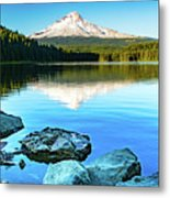Mt. Hood In Trillium Lake Metal Print