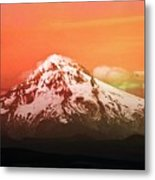 Mt Hood Oregon Sunset Metal Print by Aaron Berg