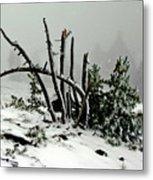 Mt Hood Snow Metal Print