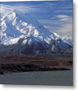 Mt. Mckinley And Lenticular Clouds Metal Print