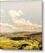 Mt Mee Vintage Landscape Metal Print