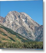 Mt Moran At The Grand Tetons Metal Print