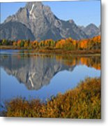 Mt. Moran Fall Reflection  Metal Print