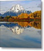 Mt Moran From The Ox Bow Metal Print