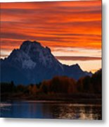 Mt. Moran Sunset Metal Print
