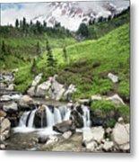 Mt Rainier Paradise Portrait Metal Print