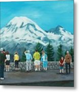 Mt. Rainier Tourists Metal Print