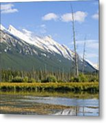 Mt Rundle Over Vermillion Lakes Metal Print