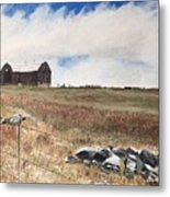 Mt Savior Barn Metal Print