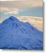 Mt. Shasta Snow Drifts Metal Print