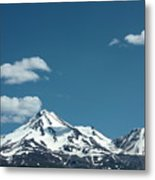 Mt Shasta With Heart-shaped Cloud Metal Print