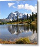 Mt Shuskan In Fall Metal Print