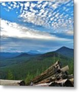 Mt. St. Helens And Red Mountain Metal Print