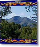 Mt Tamalpais Framed 2 Metal Print