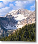 Mt. Timpanogos In The Wasatch Mountains Of Utah Metal Print