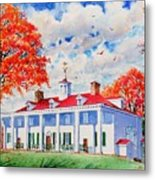 Mt. Vernon East Front In Fall Metal Print