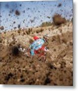 Mud Action Metal Print