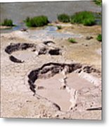 Mud Volcano Area In Yellowstone National Park Metal Print