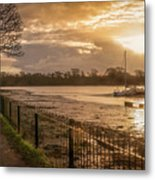 Muddy Creek At Fareham, Hampshire, England Metal Print