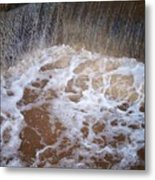 Muddy Waterfall Metal Print