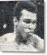 Muhammad Ali Butterfly Bee Mosaic Metal Print by Paul Van Scott
