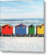 Muizenberg Beach Huts 2 Metal Print