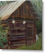 Mulberry Farms Grainery Metal Print