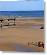 Mulberry Harbour, Omaha Beach, Normandy Metal Print