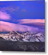 Mulhacen And Alcazaba At Sunset Metal Print