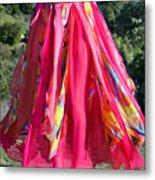 Multi-color Pink Skirt. Ameynra Design Metal Print