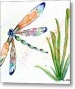 Multi-colored Dragonfly Metal Print