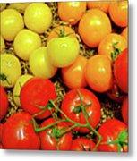 Multi Colored Tomatoes Metal Print