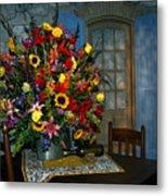 Multicolor Floral Arrangement Metal Print