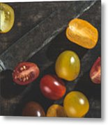 Multicolored Cherry Tomatoes Metal Print
