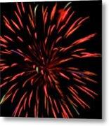 Multicolored Fireworks 2 Metal Print
