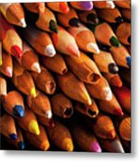 Multicolored Pencils Metal Print