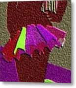 Multicolored Raven Standing Metal Print