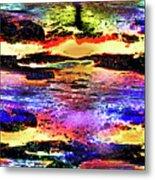 Multiple Underwater Sunsets Metal Print